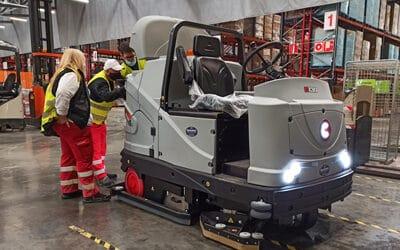 Renovamos la fregadora C130 BS para la limpieza de una empresa de distribución de alimentos en Murcia